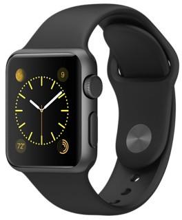 Apple Watch Sport  Space Gray Aluminium Case - Black Sport Band (Size: 38)